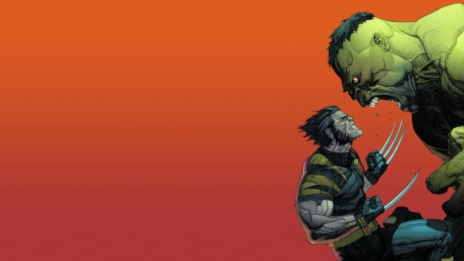 Wolverine vs. Hulk, Marvel, Superhero, 8K, #6.1238