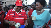 Kazi ni ufisi tu! Kiambu Governor FERDINARD WAITITU salivates on a S£XY MCA's sweet derriere (PHOTO).