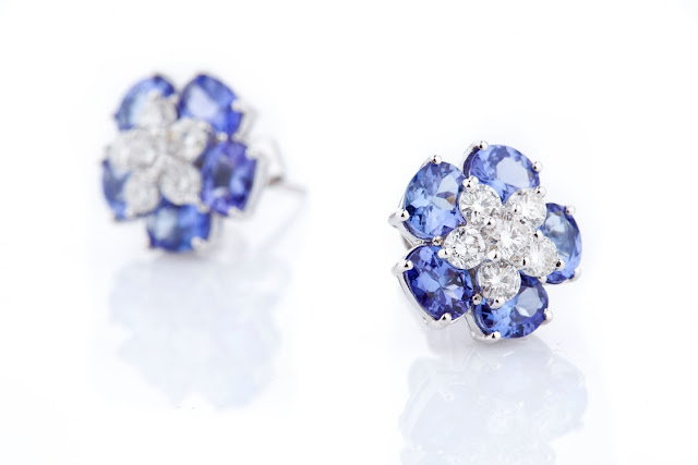 03 Entice tanzanite & diamond detachable ear studs