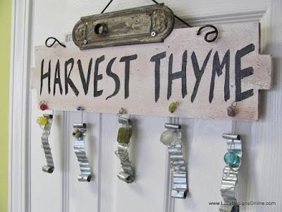 Garden theme sign