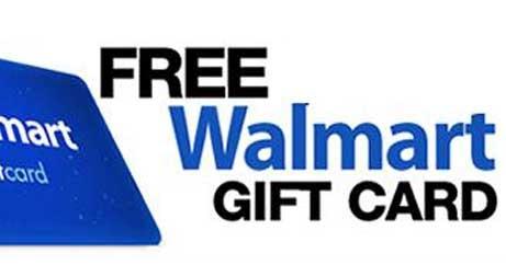 get a free walmart gift card