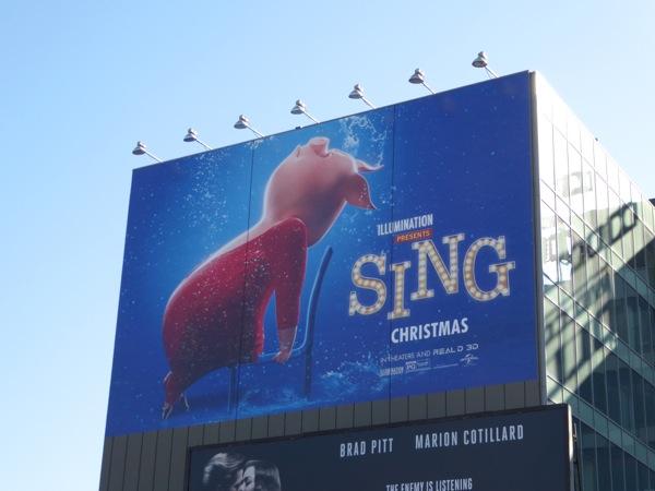 Giant Sing Gunter Flashdance billboard