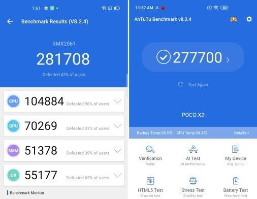 AnTuTu Benchmark Snapdragon 720G vs Snapdragon 730G
