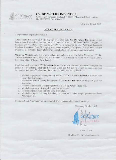 surat penunjukan