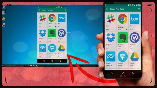 برنامج ApowerMirror عرض شاشة الهاتف على الكمبيوتر و التلفاز ولعب الألعاب إظهار شاشة الهاتف دون روت