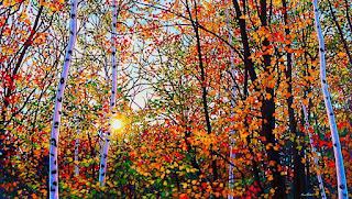 panoramas-de-bosques-pintura-estilo-moderno cuadros-modernos-vistas-con-bosques