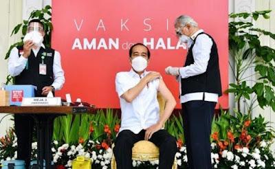 Vaksin Covid-19 Pertama Berhasil Disuntikkan: Ini Kata Presiden Jokowi