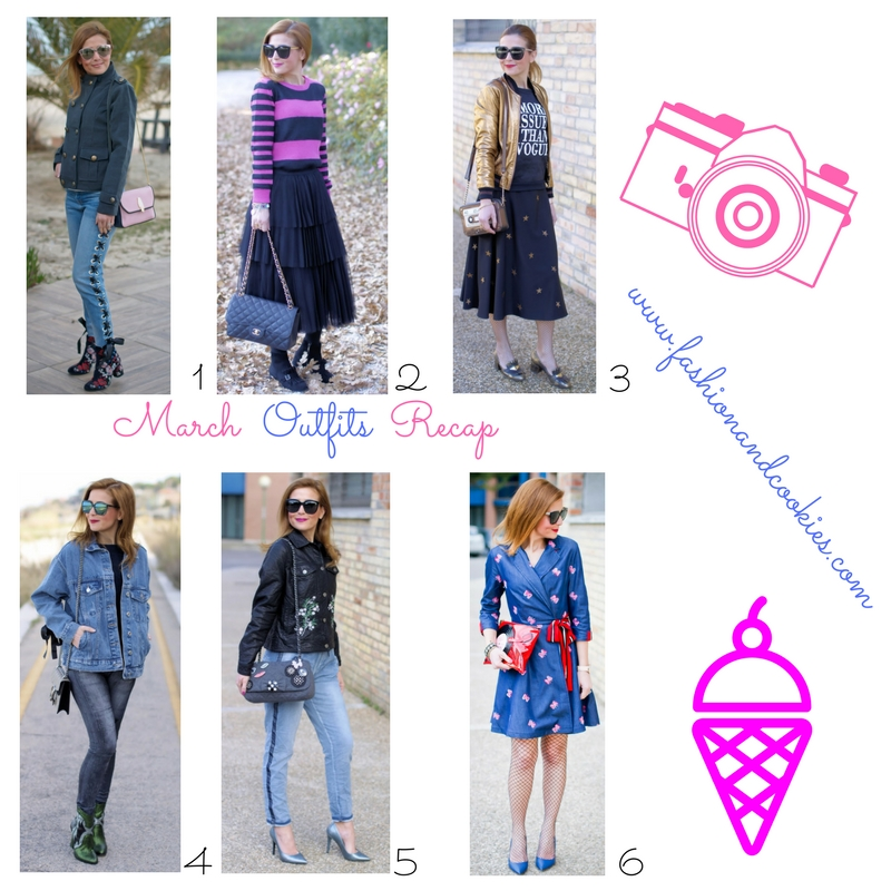 March 2017 fashion blogger outfits recap on Fashion and Cookies fashion blog, fashion blogger style