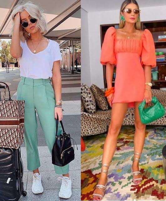 As cores de 2021 Pantone, Looks inspiração, Jade Stone, Thássia Naves