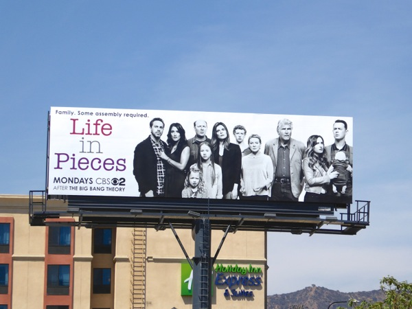 Life in Pieces CBS sitcom billboard