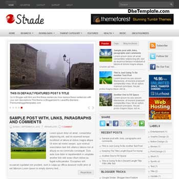 Strade  blog template. magazine blogger template style. magazine style template blogspot. 3 column blogspot template