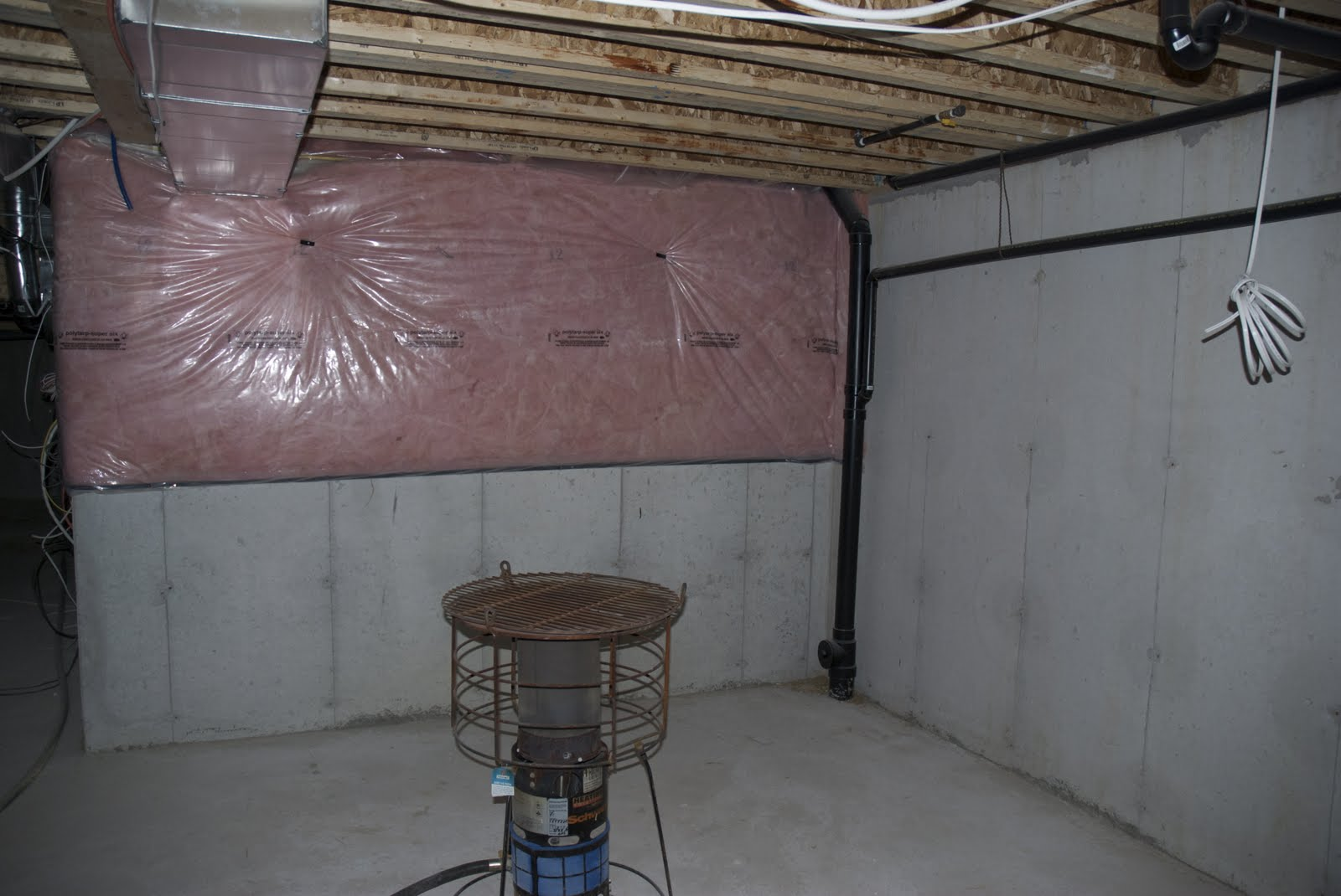 unfinished basement walls. Main Area Of The Unfinished Basement  HouSeOnaShoestring Unfinished Basement Decorating