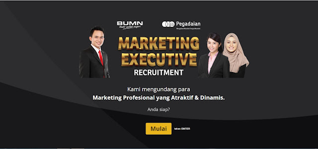 Lowongan Kerja BUMN PT Pegadaian (Persero) Dengan Posisi Marketing Executive Penempatan Seluruh Wilayah Indonesia