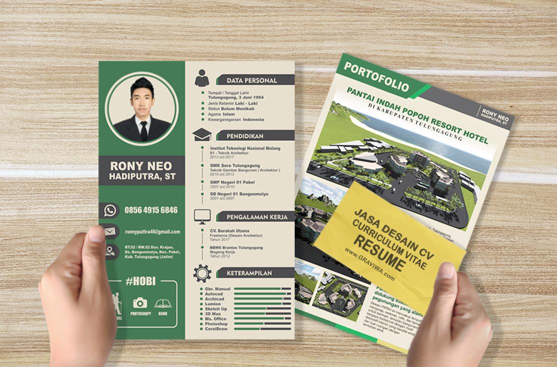 Jasa Desain Curriculum Vitae (CV) / Pembutan Resume