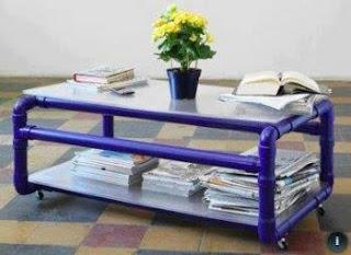 Ideas con tubos de PVC - mesa ratona