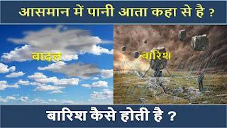 barish kaise hoti hai hindi me
