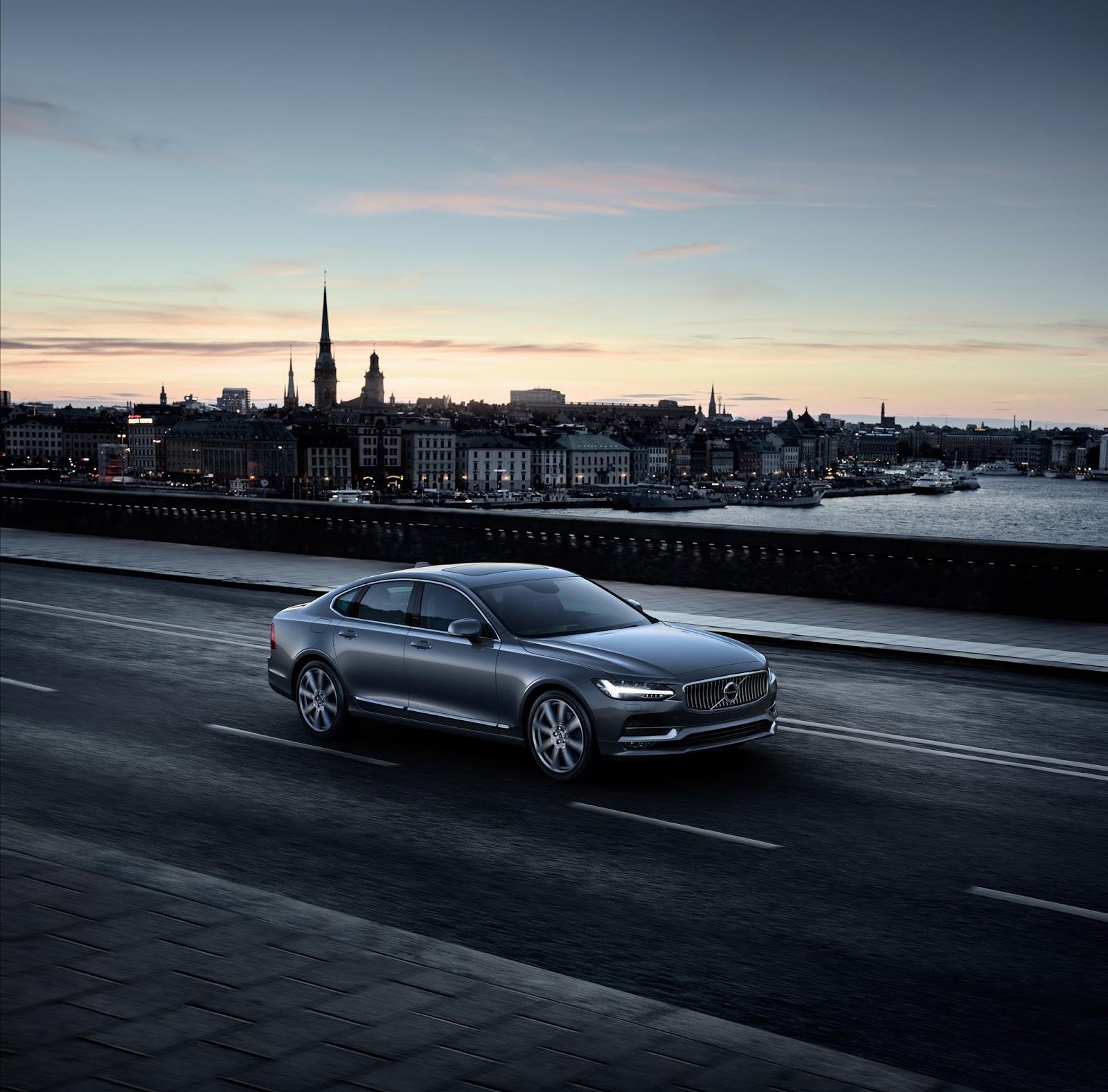 170196 Location Front Quarter Volvo S90 Osmium Grey Το νέο Volvo S90 έρχεται και βάζει φωτιά στον ανταγωνισμό premium sedan, Volvo, Volvo Cars, Volvo S90