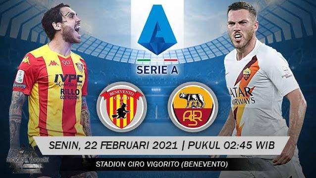 Prediksi Benevento Vs AS Roma