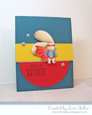 You're My Superhero card-designed by Lori Tecler/Inking Aloud-stamps from The Cat's Pajamas