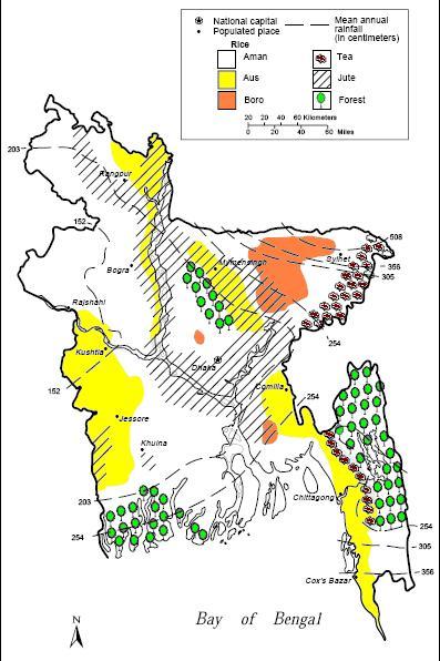 Agricultural Map Bangladesh