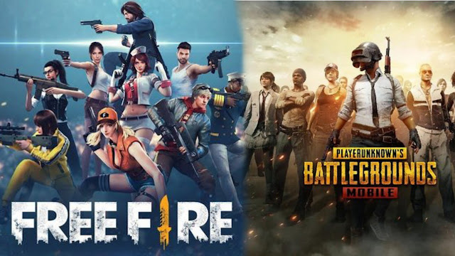Pubg dan Free fire,battle royale ,battleground