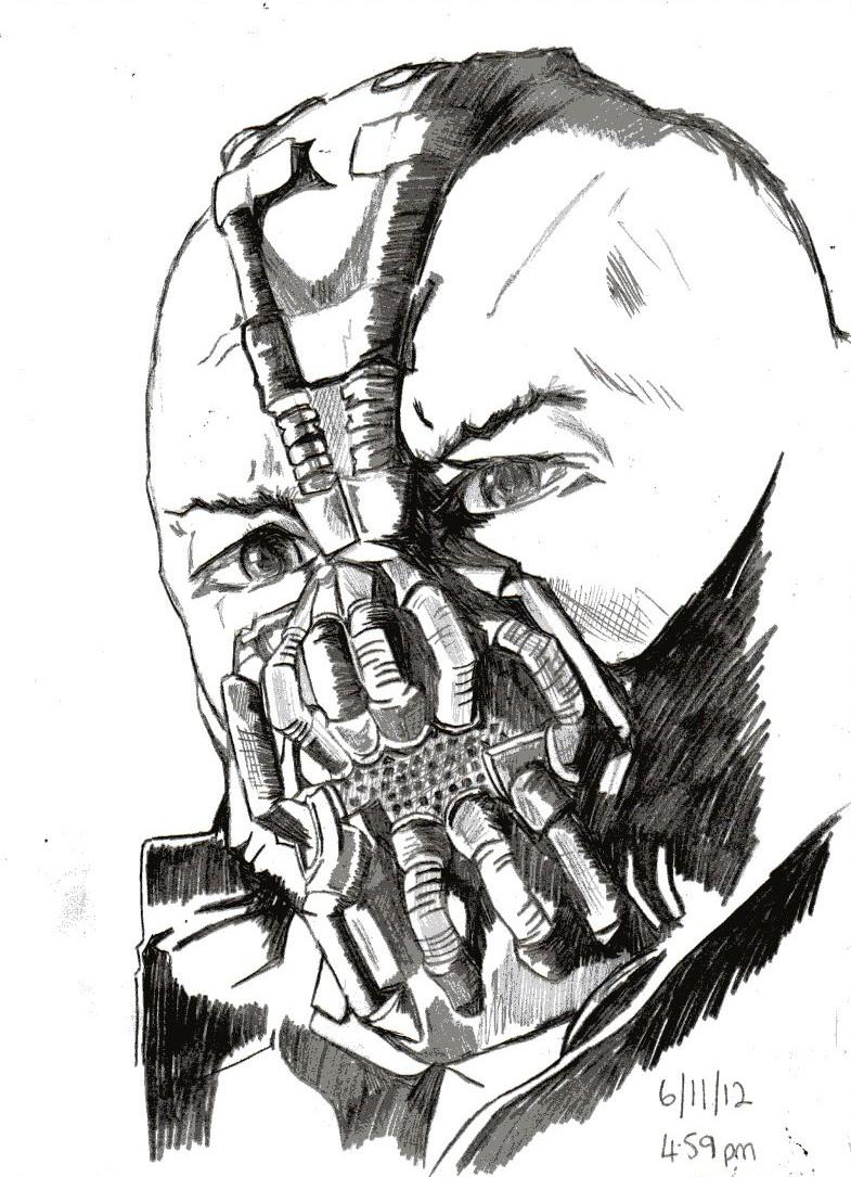 My World: Bane sketch using pencil 6/11/12