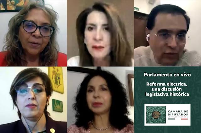 Dialogan diputadas y diputados de Morena, PRI, PT y PRD sobre la reforma a la Ley de la Industria Eléctrica