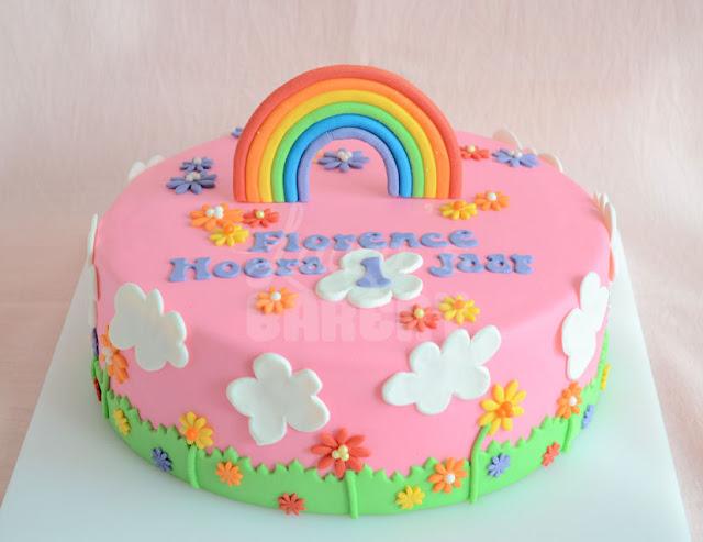 kindertaart maken Somewhere over the rainbow   Laura's Bakery kindertaart maken