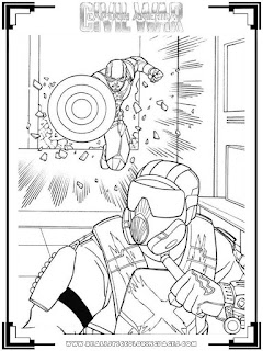 realistic captain america civil war coloring pages