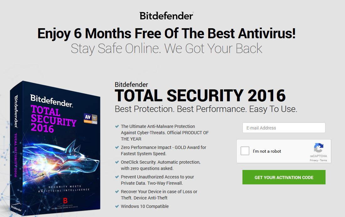 bitdefender total security 2016 key free