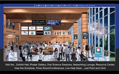 Virtual front page for AAS 236th annual meeting (Source: www.aas.org)