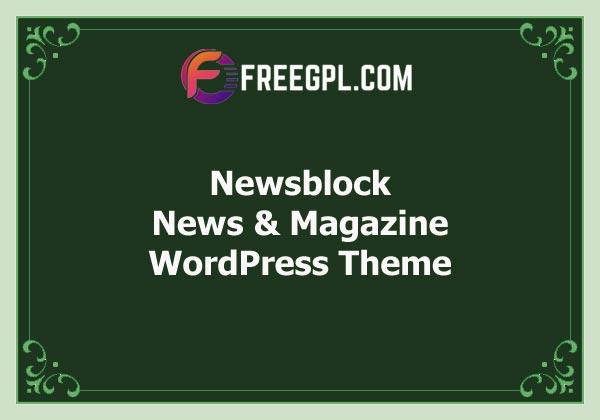 Newsblock - News & Magazine WordPress Theme with Dark Mode Free Download