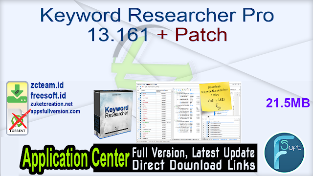 Keyword Researcher Pro 13.161 + Patch_ ZcTeam.id