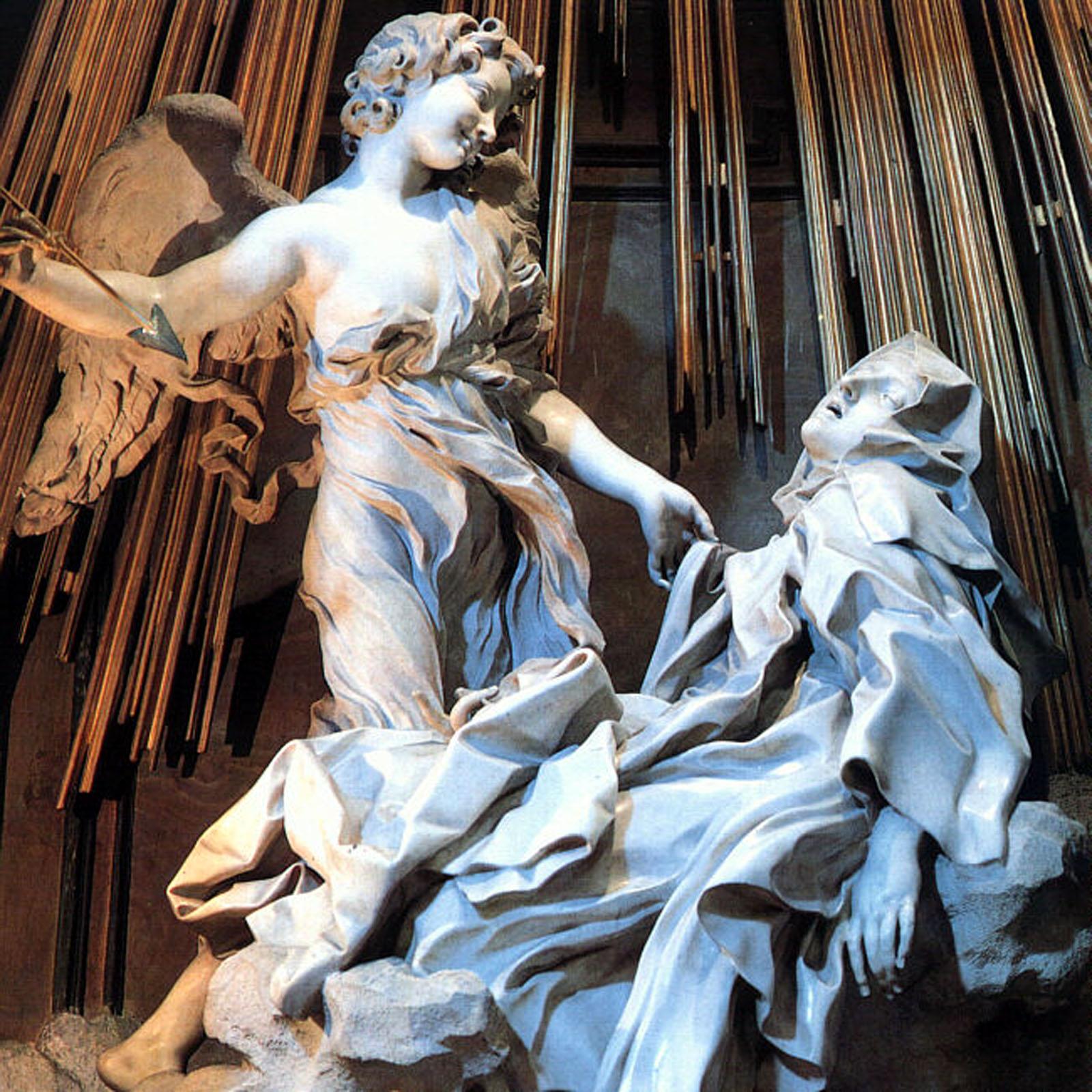 El   233 xtasis de Santa Teresa de Jes  250 s quot  - BerniniBernini St Teresa Painting