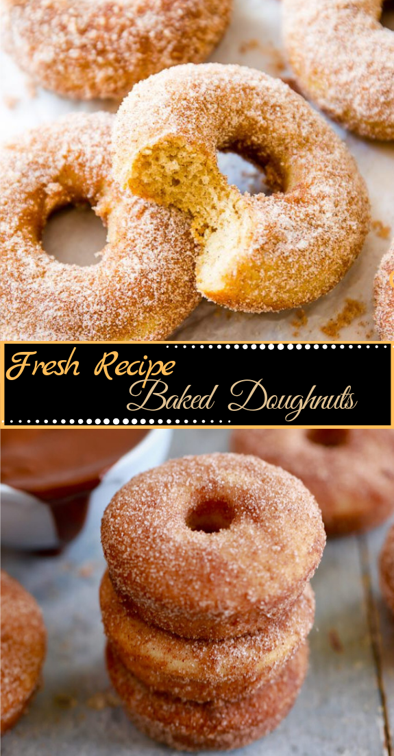 BAKED DOUGHNUTS #desserts #cakerecipe #chocolate #fingerfood #easy