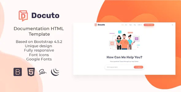 Best Documentation HTML Template