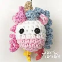 Llavero Unicornio a Crochet