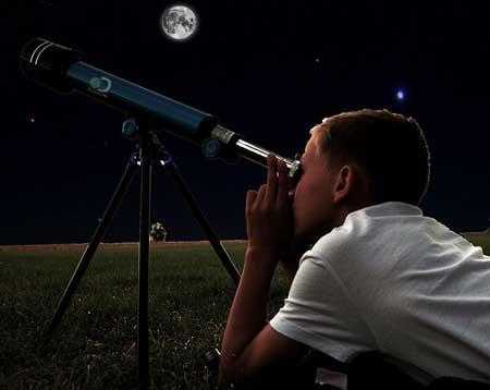 Teropong bintang fungsi pembentukan bayangan rumus perbesaran