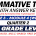 SUMMATIVE TEST with Answer Key (Modules 3-4) 2ND QUARTER