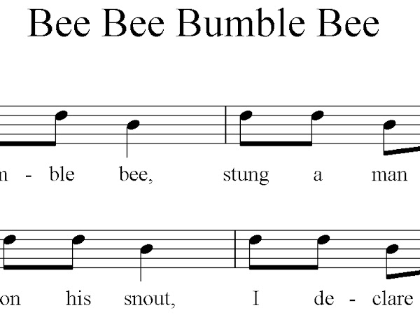 Bee Songs for First Grade