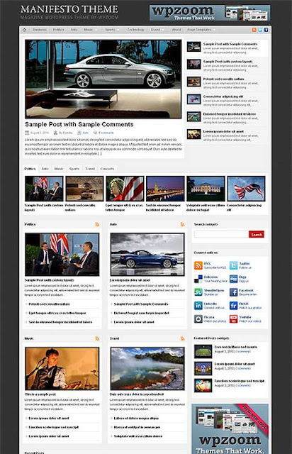 Download Manifesto WordPress theme