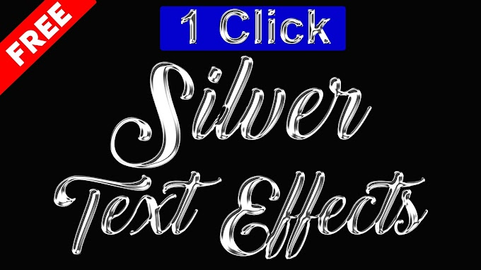 3D Silver Text Effect Photoshop Action Free Download