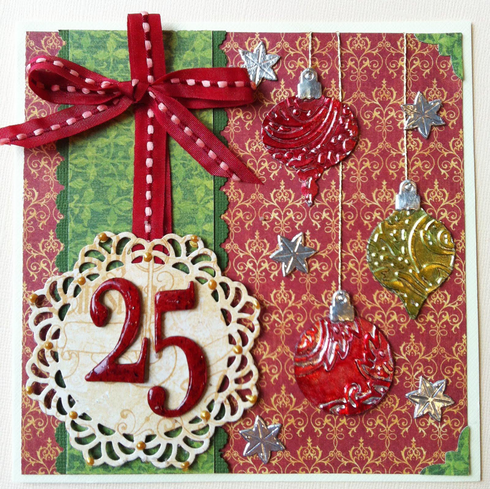 designgirl foil ornament christmas card