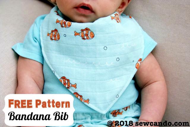 Bandana Baby Bib - Free Sewing Pattern