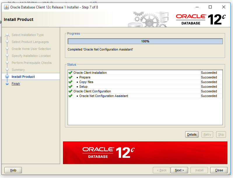 ins 20802 oracle net configuration assistant failed relationship