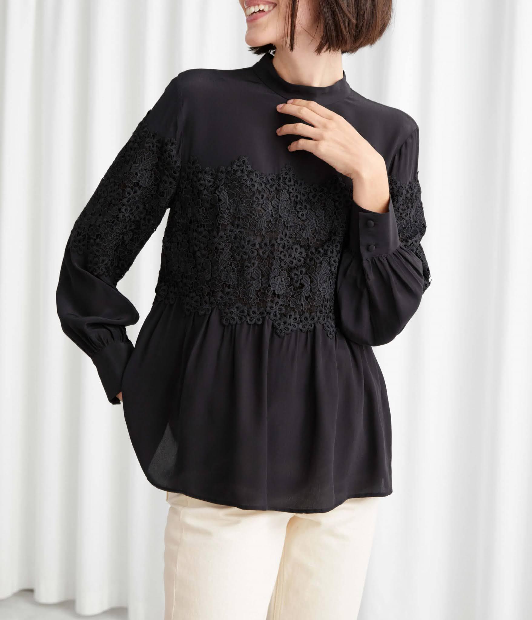romantic lace blouse