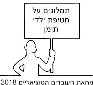 מחאת העובדים הסוציאליים 2018 - תמלוגים על חטיפת ילדי תימן