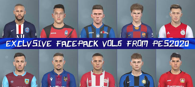 Exclusive Facepack Vol 6 For PES 2019 By H.S.H EditMaker