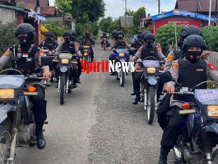 Wakapolres Eddy, Personil Polwan Polres Barru Bersama Brimob Parepare Gencar Patroli Jelang Pilkada 2020