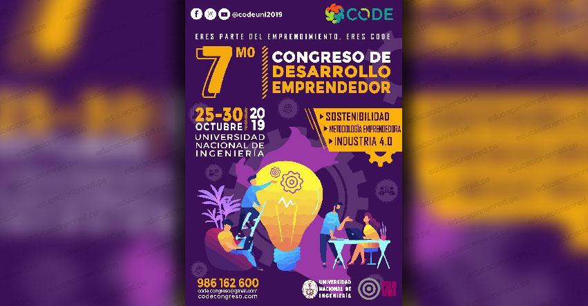 Comenzó el VII Congreso de desarrollo emprendedor - CODE en la UNI